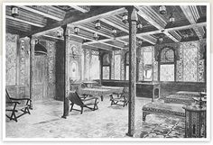 This was for 1st class passengers.Called the Turkish Bath.For 1.00 you could go in the steam,hot,temperate or shampoo rooms.There were toilets and also a cooling room.Believe it or not these bed were heated using electric lamps which ofcourse was very modern at the time.