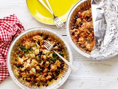 Healthy Grilled Chicken-and-Rice Foil Packs recipe from Food Network Kitchen via Food Network