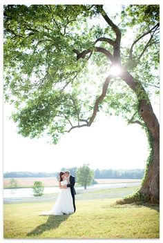 Lovely couple on their wedding day at Adaumont Farm in North Carolina