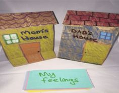 Divorce and separation counseling Activity craft with paper bags.You can find Play therapy and more on our website.Divorce and separation counseling Activity craft w. Counseling Crafts, Divorce Counseling, Group Counseling, Elementary School Counseling, School Social Work, School Counselor, Elementary Art, Paper Bag Crafts, Paper Bags