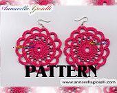 """Schema uncinetto per creare gli orecchini """"Romantici"""" Crochet Earrings pattern"""