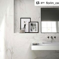 Our Gorgeous Stone Calacatta porcelain collection #Repost @florim_ceramiche ・・・ The stunning white and the elegant veins of Calacatta marble are one of the sources of inspiration of Stones&More by Casa dolce casa. #florim #florimceramiche #bathroom #elegance #interiordesign #designispiration #madeinitaly #dilorenzotiles