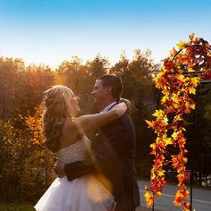 """This is a Perfect Time of the Year for a Backyard """"Fall Wedding""""! The amazing colours are now if full bloom and what a better time of year to get wedding or engagement photos taken! If you are looking for a professional wedding photographer to come to your chosen location, anywhere in the Halifax, Dartmouth, HRM areas.. don't hesitate to reach out to discuss your plans. I would love to hear how you met 🙂 Phone: 902-880-5458"""
