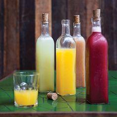 Água de fruta de manga e gengibre