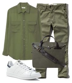 """""""Work #1"""" by fachrur-roziq on Polyvore featuring Abercrombie & Fitch, Equipment, adidas and Filson"""