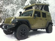 Jeep expedition conversion. Camp in style in really harsh places.