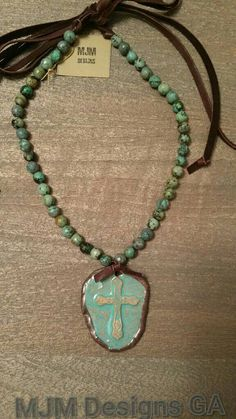 New Clay cast cross encasted in soldered bezel by MJMDesignsGA