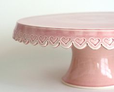 Heart Cake Stand 12 inch Pink by JeanetteZeis on Etsy Cake And Cupcake Stand, Cupcake Cakes, Cupcakes, Cake Dome, Pretty Cakes, Beautiful Cakes, Cake Pedestal, Vintage Cake Stands, Bolo Cake