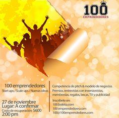 100 #emprendedores en #Querétaro @madventure01 Inscríbete y prepara tu elevator pitch