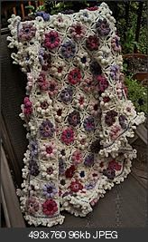Lilac and orchid blankie
