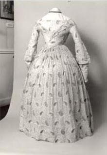 Printed muslin gown worn by Charlotte Bronte.  Bronte Parsonnage Museum