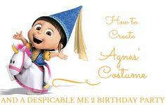 How to Create Agnes' Costume and Despicable Me 2 Birthday Party | thegoodstuff