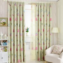Owl cartoon printed curtains bedroom curtains cortinas kids rideau perde Children curtains at sale