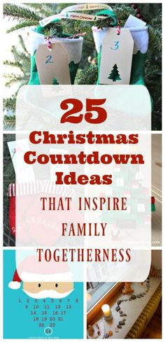 Christmas countdown ideas to use with your family - Lots of easy DIY Advent calendar ideas that kids will enjoy!