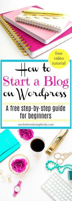 start a blog | how to start a wordpress blog | blogging for beginners | domain name | web hosting | how to use wordpress | wordpress plugins via @CherylLemily