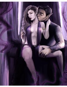 Rhys and Feyre in the Court of Nightmares