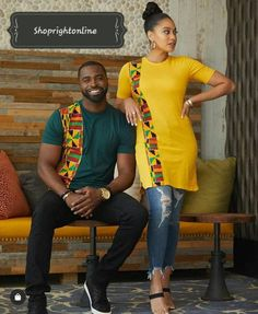 Items similar to Ankara printed t-shirt gift for boyfriend and girlfriend on Etsy - African fashion Couples African Outfits, African Dresses Men, African Blouses, African Clothing For Men, African Fashion Ankara, Latest African Fashion Dresses, African Print Fashion, African Attire, African Wear
