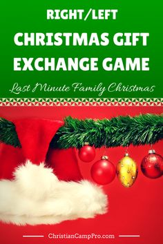A funny story of a family trying to put Christmas together last minute. This Right/Left Christmas Gift Exchange Game is guaranteed for fun and laughter.