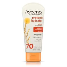 Aveeno Protect + Hydrate Lotion Sunscreen With Broad Spectrum Spf 70, Sun Protection, 3 Oz, Multicolor