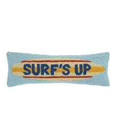 Another great find on #zulily! Blue 'Surf's Up' Throw Pillow #zulilyfinds
