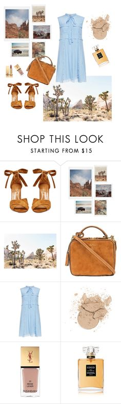 """my way"" by emina-la ❤ liked on Polyvore featuring Aquazzura, DENY Designs, Mark Cross, N°21, Yves Saint Laurent and Chanel"