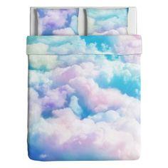 Cloudy pastel 2 persoons dekbed overtrek met kussensloops multicolours