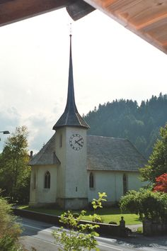 Church in Eggiwill, Switzerland. THE LIBYAN Esther Kofod (I have ancestors from this area) Personal Library, Ancestry, Family History, Switzerland, Gazebo, Roots, Wanderlust, Outdoor Structures, Memories
