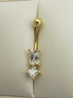 14KT CZ Belly Button Ring  $149