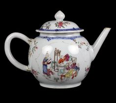 Fine Antique Chinese Teapot And Cover  ..
