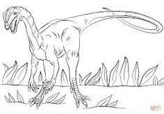 Jurassic Park Dilophosaurus Coloring Page From Saurischian Dinosaurs Category Select 30459 Printable Crafts Of Cartoons Nature Animals