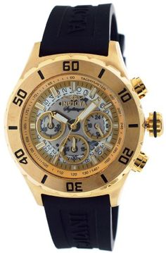 Women's Wrist Watches - Invicta Signature II Chronograph White Dial Goldtone Mens Watch 7379 -- You can get more details by clicking on the image. (This is an Amazon affiliate link)