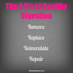 The 4-step protocol to overcoming your #digestive problems! www.elainebrisebois.com