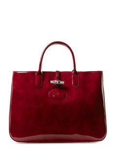 58b15ac458 Roseau Box Patent Leather Large Tote from Longchamp Handbags on Gilt Medium  Tote