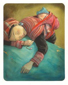 Illustration Art Dessin, Illustrations, Digital Illustration, Klimt, Sweet Pic, Kawaii Wallpaper, Image Makers, Color Of Life, Baby Wearing