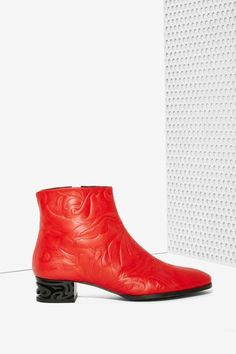 Miista Ryan Leather Boot - Red - Sale : Shoes