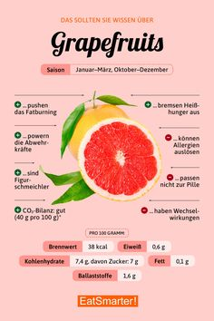 Grapefruit - Diet And Nutrition Feta Cheese Nutrition, Green Grapes Nutrition, Grapefruit Nutrition, Healthy Food List, Diet And Nutrition, Healthy Recipes, Healthy Life, Nutrition Guide, Health