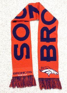 New DENVER BRONCOS NECK SCARF Orange/Navy-Blue Winter Knit NFL Men/Women GIFT!!! #ForeverCollectibles #DenverBroncos