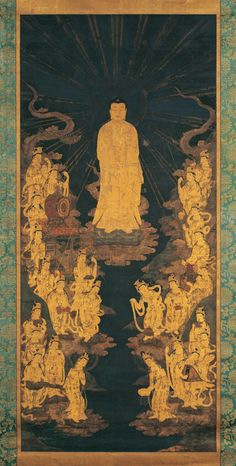 Thangka Painting, Buddha Painting, Buddha Buddhism, Buddha Art, Vajrayana Buddhism, Amitabha Buddha, Buddhist Teachings, Tibetan Art, Buddhists