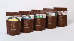 + Design de embalagem :     Projeto da A Friend of Mine, para a marca 5 Senses Coffee.