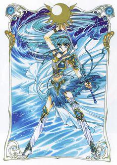 Umi Ryuuzaki 「龍咲 海」 from Magic Knight Rayearth Manga Anime, Comic Manga, Manga Art, Anime Art, Anime Sexy, Cardcaptor Sakura, Manga Creator, Arte Sailor Moon, Magic Knight Rayearth