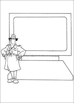 gadget boy coloring pages   69 Best Inspector Gadget images   Cartoons, Inspector ...
