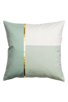 Block-coloured cushion cover
