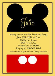 Minnie and Mickey Mouse Birthday Invitation by shoptopitoffdesigns