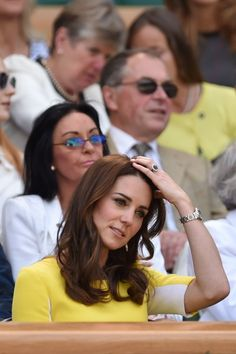 Kate Middleton Photos - Britain's Catherine, Duchess of Cambridge (C) takes her seat in the royal box on centre court to watch the women's semi-final match between US player Serena Williams and Russia's Elena Vesnina on the eleventh day of the 2016 Wimbledon Championships at The All England Lawn Tennis Club in Wimbledon, southwest London, on July 7, 2016. / AFP / GLYN KIRK / RESTRICTED TO EDITORIAL USE - Day Ten: The Championships - Wimbledon 2016