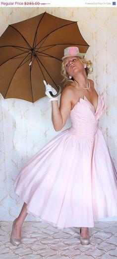 Beautiful Blush Pink Dress by MovieStarMoon, $213.75