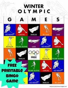 Relentlessly Fun, Deceptively Educational: Olympic Winter Games BINGO