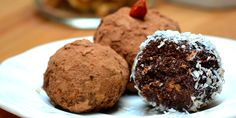 High-Protein, Healthy Snacks On the Go - walnut, chocolate and coconut truffles recipe