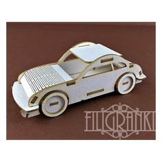 3D chipboard car Chipboard, Wooden Toys, 3d, Crafts, Products, Wooden Toy Plans, Wood Toys, Manualidades, Woodworking Toys
