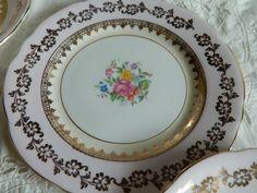 plata de mazas porcelana inglesa gladstone bone china
