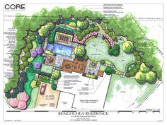 Más Ejemplos Landscape Plans On Pinterest Landscape Design Master Plan And In Backyard Design Plans Backyard Design Plans